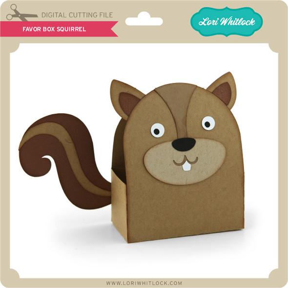 Favor Box Squirrel