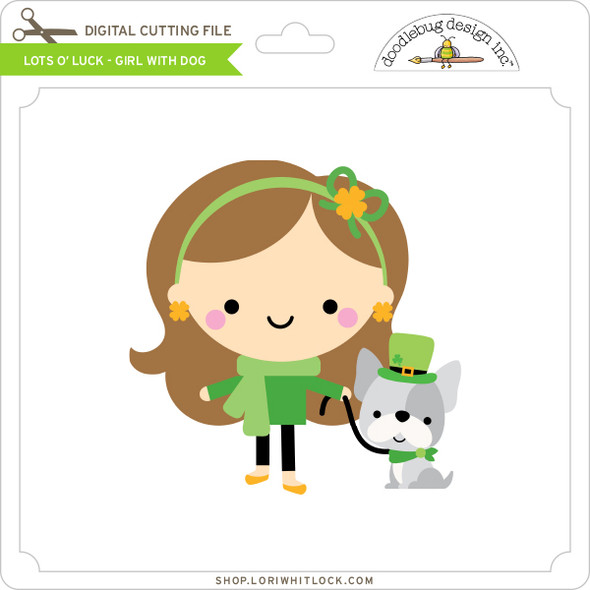 Lots O' Luck - Girl with Dog