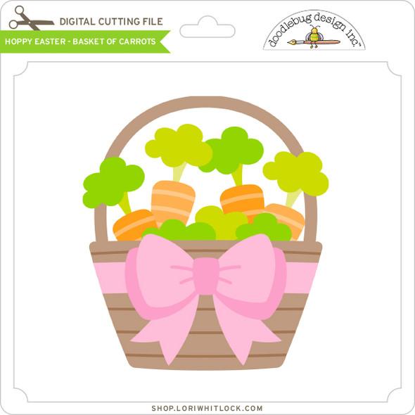 Hoppy Easter - Basket of Carrots
