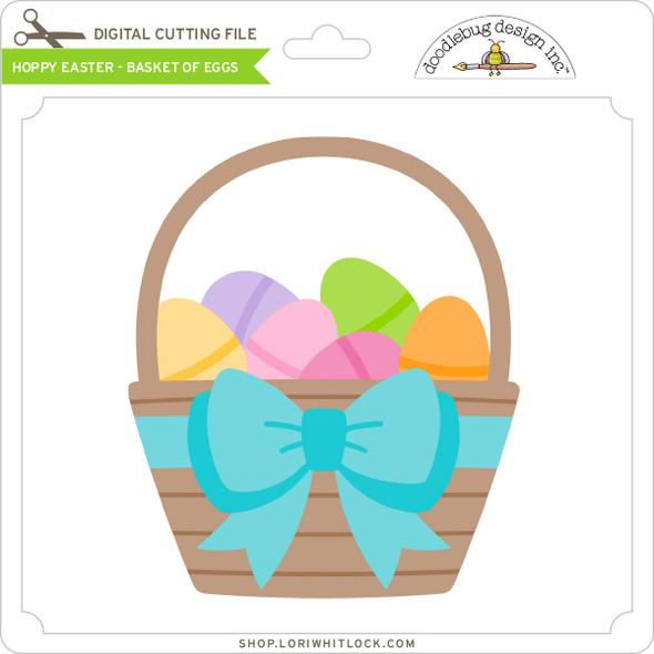 Hoppy Easter - Basket of Eggs
