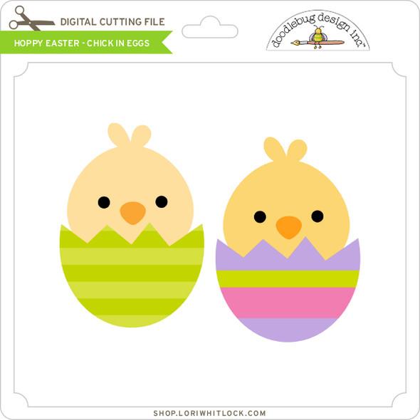 Hoppy Easter - Chick in Eggs
