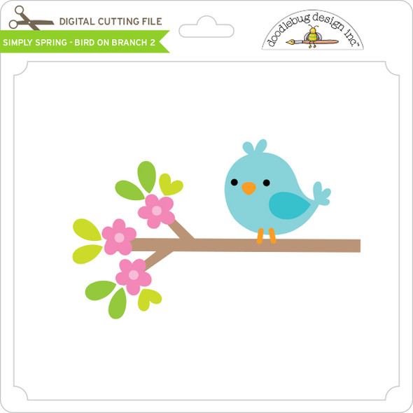 Simply Spring - Bird on Branch 2