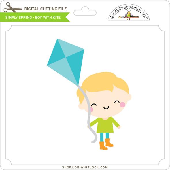 Simply Spring - Boy with Kite