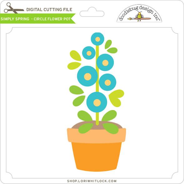 Simply Spring - Circle Flower Pot