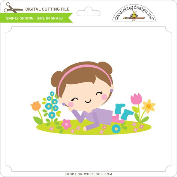 Simply Spring - Girl in Grass