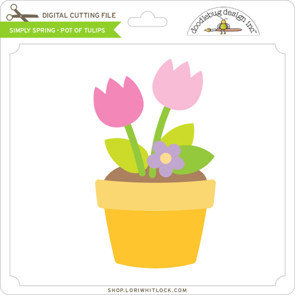 Simply Spring - Pot of Tulips