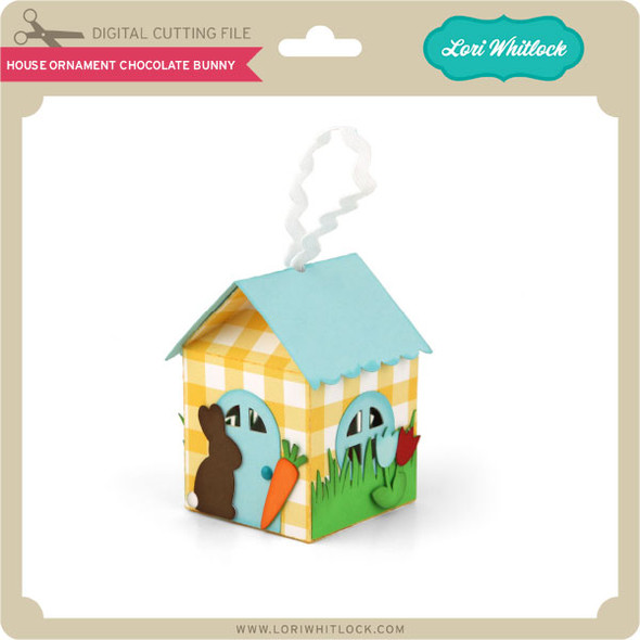 House Ornament Easter Chocolate Bunny