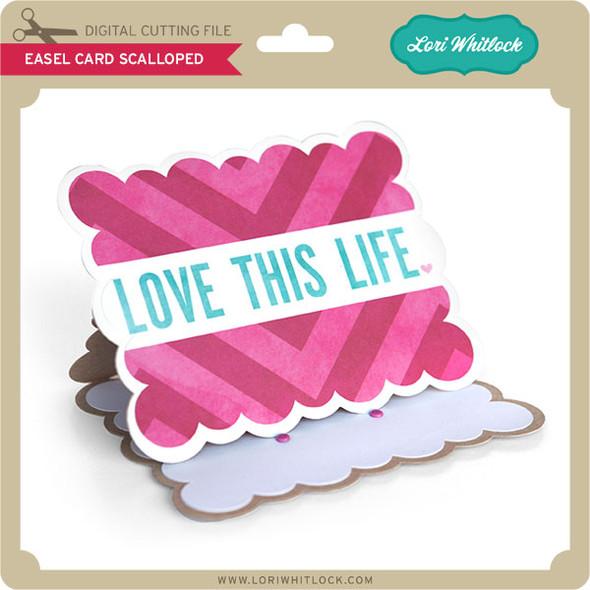 Easel Card Scalloped
