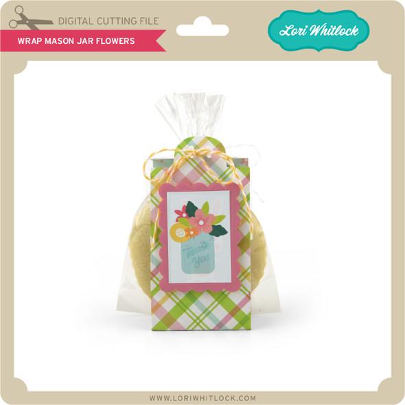 Wrap Mason Jar Flowers