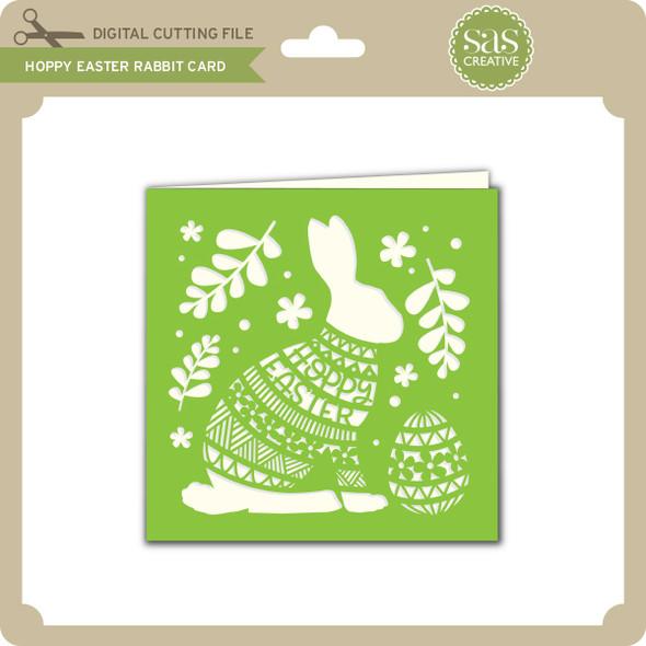 Hoppy Easter Rabbit Card