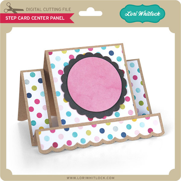 Step Card Center Panel Scalloped