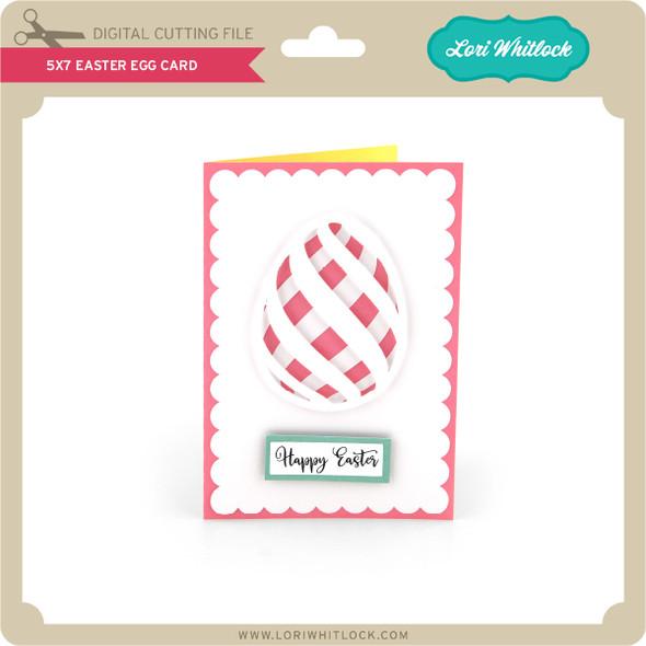 5x7 Easter Egg Card