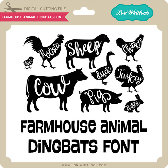 Farmhouse Animal Dingbats Font