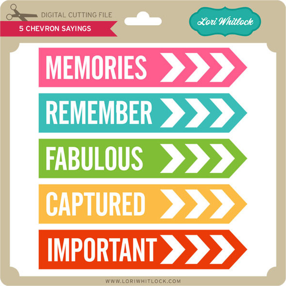 5 Chevron Sayings PNG and SVG