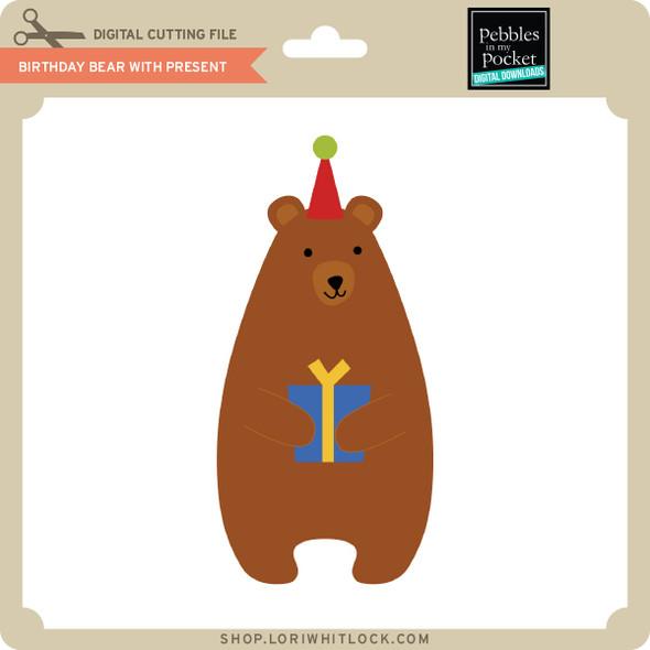 Birthday Bear with Present