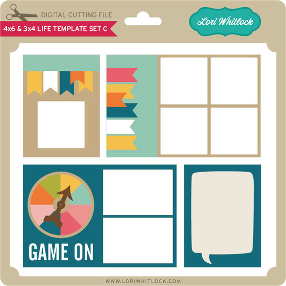 4x6 and 3x4 Life Template Set C