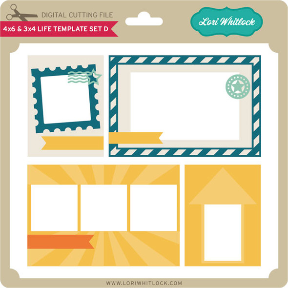 4x6 and 3x4 Life Template Set D