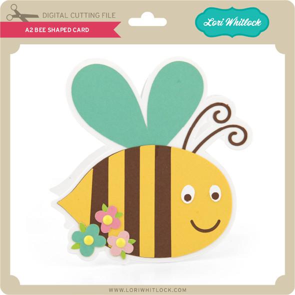 A2 Bee Shaped Card