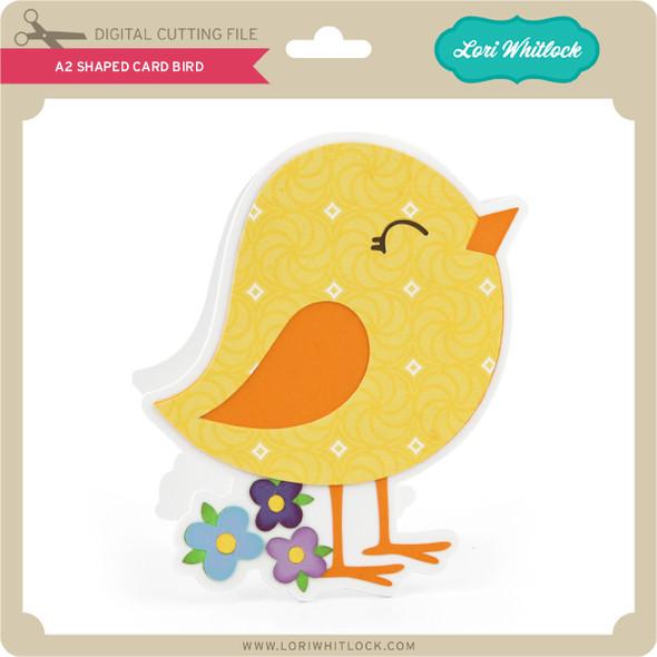 A2 Shaped Card Bird