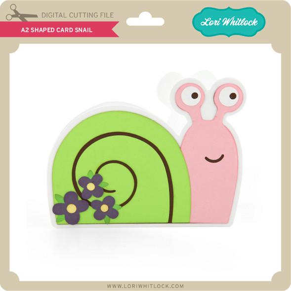 A2 Shaped Card Snail