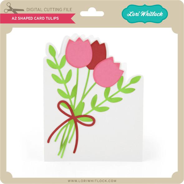 A2 Shaped Card Tulips
