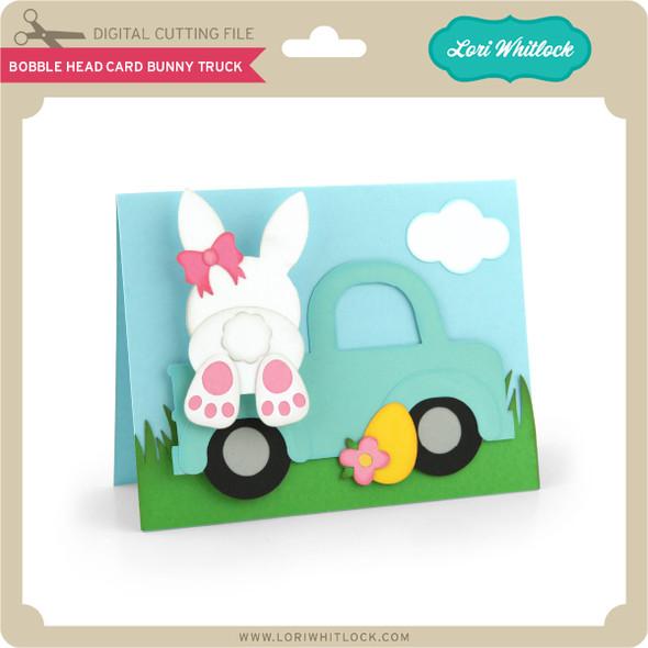 Bobble Head Card Bunny Truck