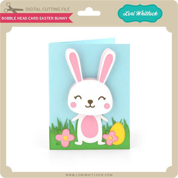 Bobble Head Card Easter Bunny