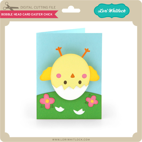 Bobble Head Card Easter Chick