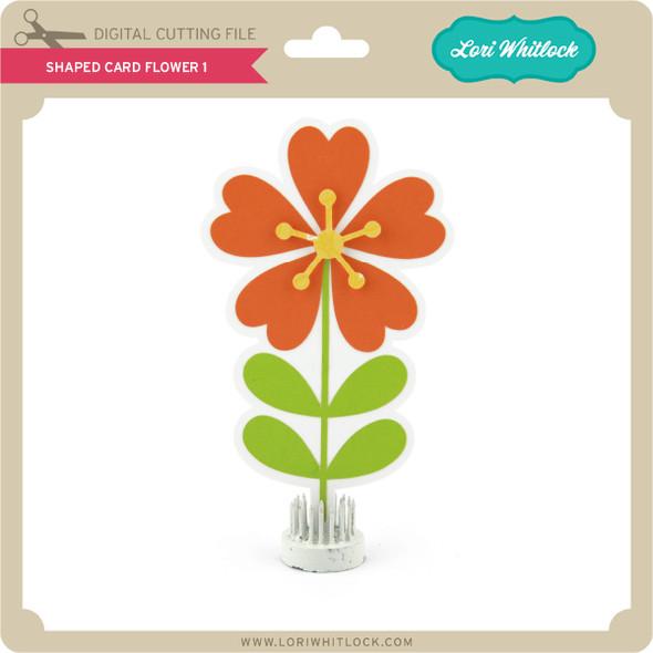 Shaped Card Flower 1