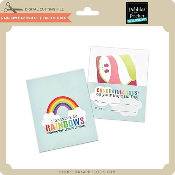 Rainbow Baptism Gift Card Holder