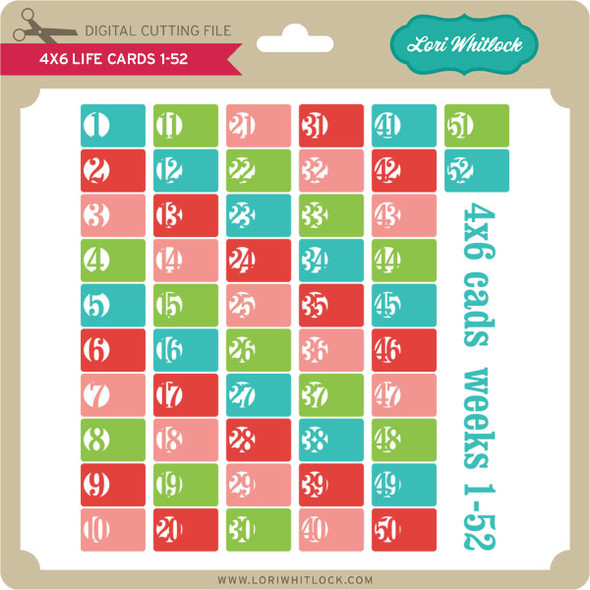 4x6 Life Cards 1-52