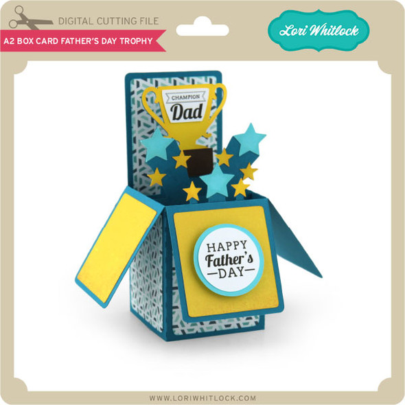 A2 Box Card Father's Day Trophy