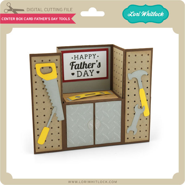 Center Box Card Father's Day Tools