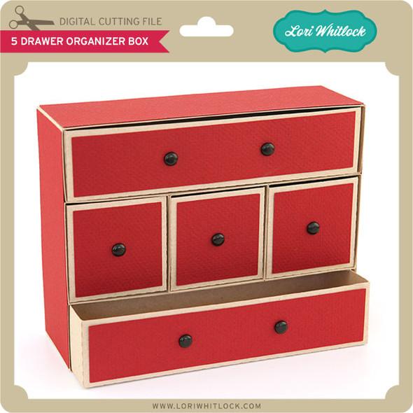 5 Drawer Organizer Box