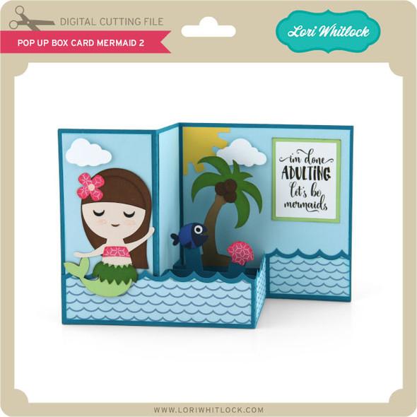 Pop Up Box Card Mermaid 2