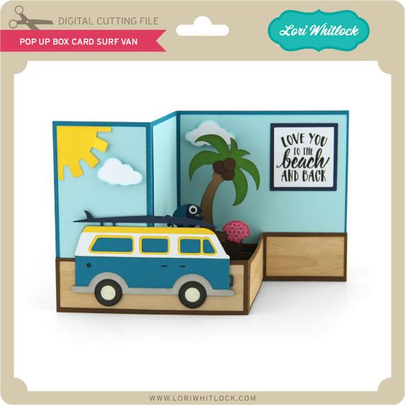 Pop Up Box Card Surf Van