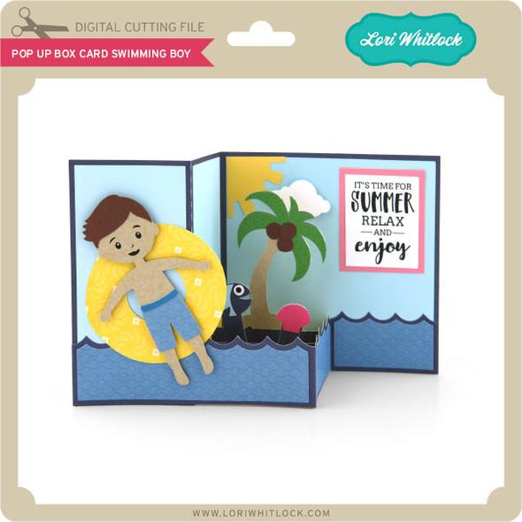 Pop Up Box Card Swimming Boy