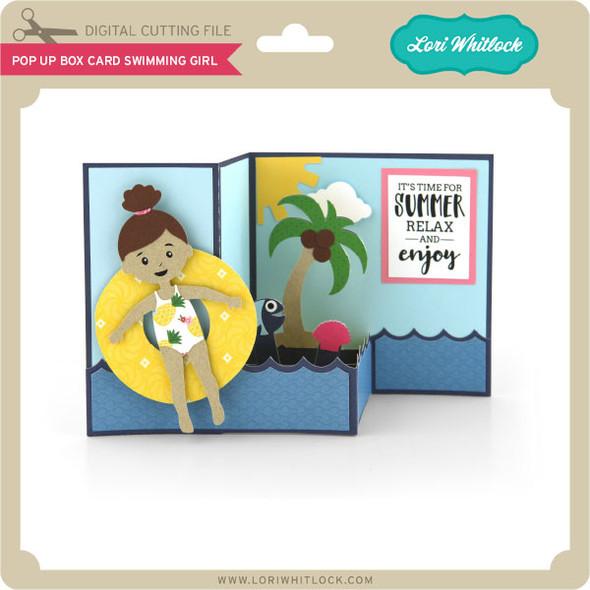 Pop Up Box Card Swimming Girl