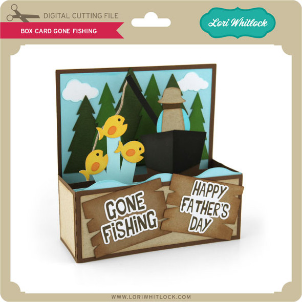 Box Card Gone Fishing