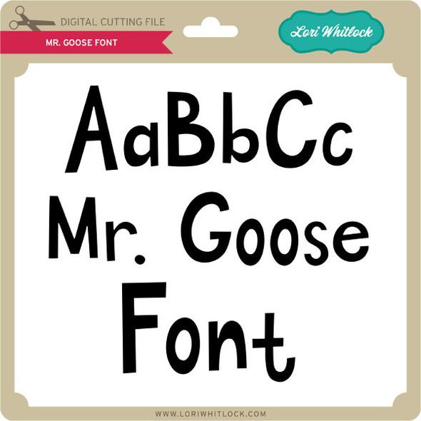 Mr Goose Font