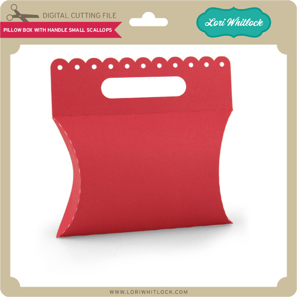 Pillow Box with Handle Small Scallops