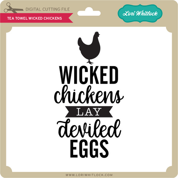 Tea Towel Wicked Chickens