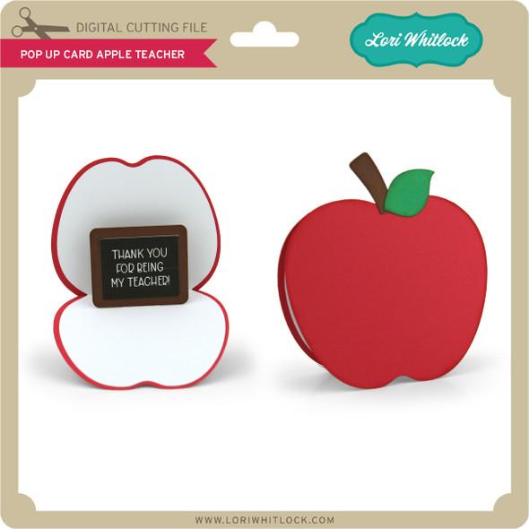 Pop Up Card Apple Teacher