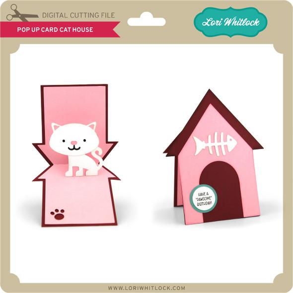 Pop Up Card Cat House