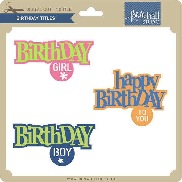 Birthday Titles