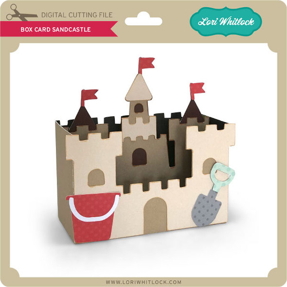 Box Card Sandcastle