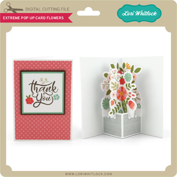 Extreme Pop Up Card Flowers
