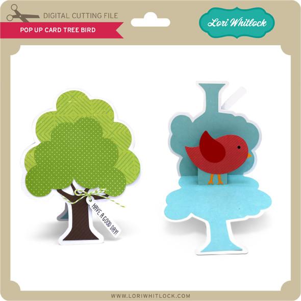 Pop Up Card Tree Bird