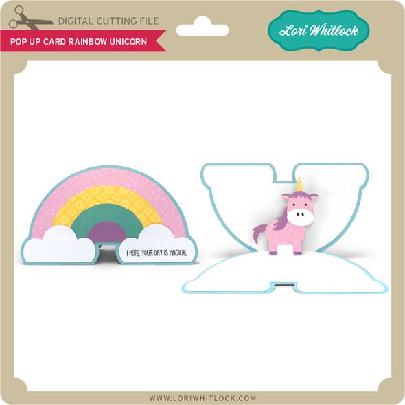 Pop Up Card Rainbow Unicorn
