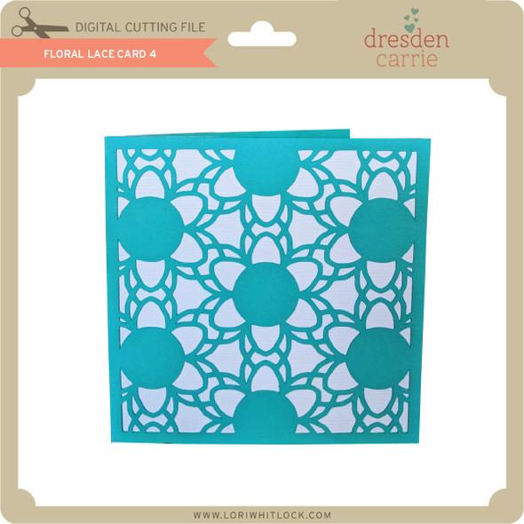 Floral Lace Card 4